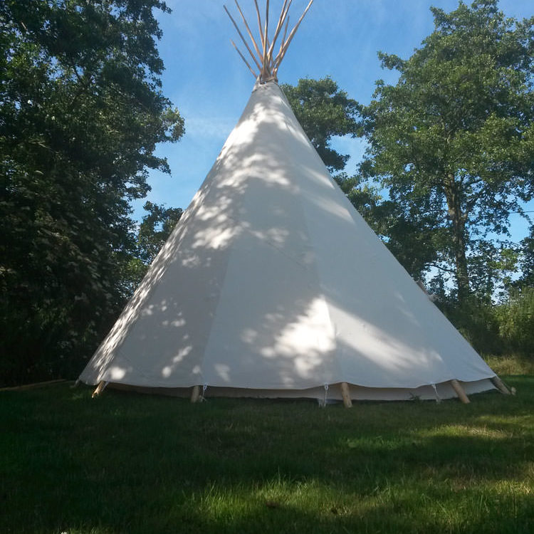 camping in kent Tipi on Palace Farm