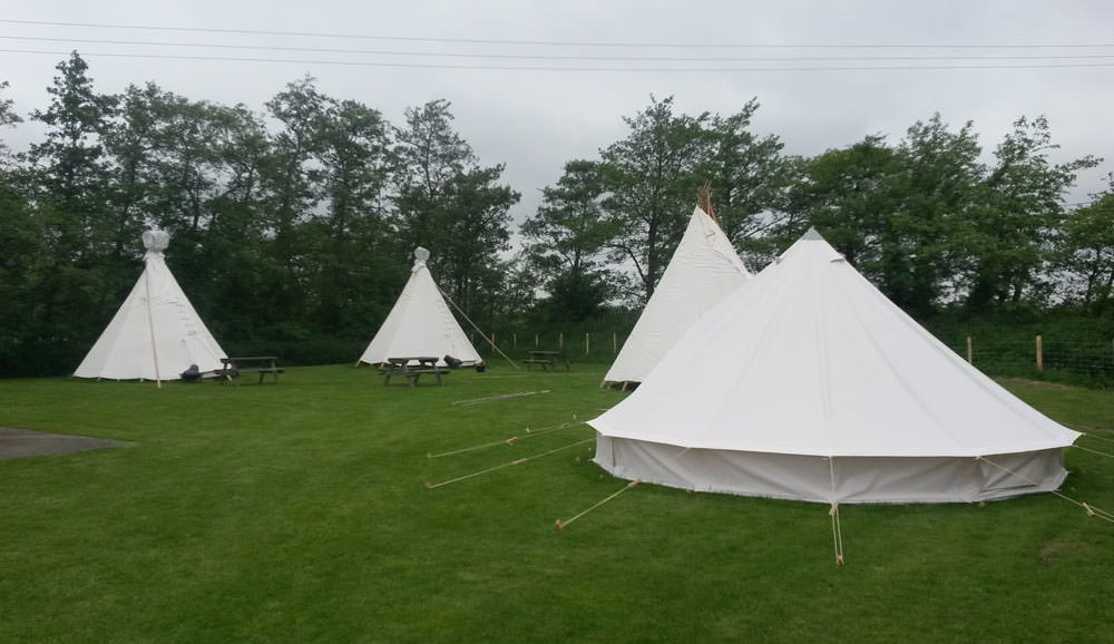 camping in kent Bell Tent on Palace Farm